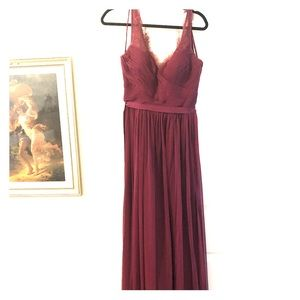 Gorgeous Wine Red BHLDN Fleur Dress